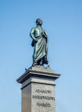 Adam Mickiewicz-Statue in Krakau, Polen Lizenzfreie Stockfotografie