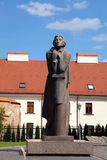 Adam Mitskevich statue in Vilnius, Lithuania. Royalty Free Stock Photo