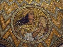 Adam, Mosaik, Kirche von Hagia Maria Zion, Jerusalem Stockbild