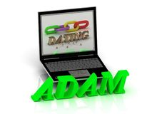 ADAM- Name and Family bright letters near Notebook Royalty Free Stock Photography