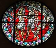 Adam och helgdagsafton som drivas ut från paradis Arkivbild