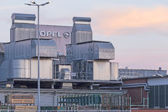 Adam Opel AG Ruesselsheim. Ruesselsheim, Germany - August 29, 2015: Production site of automotive manufacturer Adam Opel Group Stock Photography