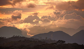 Adam Peak Sunset Sri Lanka Lizenzfreies Stockbild