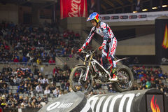 Adam Raga. Compete at Trial Indoor of Barcelona, on February 9, 2014, in Palau Sant Jordi stadium, Barcelona, Spain. Toni Bou was the winner Stock Images