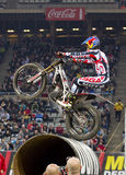 Adam Raga. Compete at Trial Indoor of Barcelona, on February 9, 2014, in Palau Sant Jordi stadium, Barcelona, Spain. Toni Bou was the winner Royalty Free Stock Image