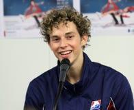 Adam RIPPON bei der SiegerPressekonferenz Stockbild
