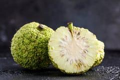 Adam-` s Apfel auf einem schwarzen Hintergrund Lizenzfreies Stockfoto