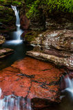 Adam's Falls and a small cascade in Ricketts Glen State Park Stock Image