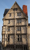 Adam's house, Angers France. Oldest half-timbering house of Angers Royalty Free Stock Photography