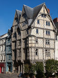 Adam's house, Angers France. Oldest half-timbering house of Angers Stock Image