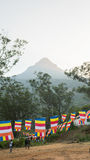Adam-` s Sri Lanka am 15. Januar die Ansicht auf die Berg-Adam-` s Spitze auf Sonnenuntergang Sri Lanka Lizenzfreies Stockbild