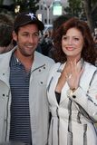 adam sandlersarandon susan royaltyfria bilder