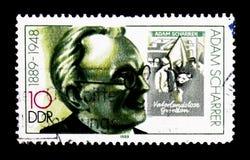 Adam Scharrer (1889-1948), προσωπικότητες serie, circa 1989 Στοκ Εικόνες