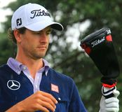 Adam Scott selecting a club Stock Photography