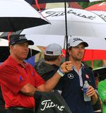 Adam Scott und mit Steve Williams Stockfoto