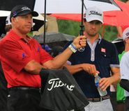 Adam Scott und Steve Williams Lizenzfreie Stockbilder