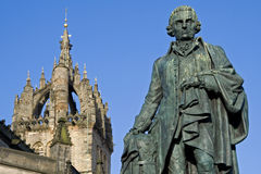 Adam Smith, Monument and St Giles Cathedral royalty free stock photography