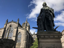 Adam Smith Statue. In Edinburgh Scotland Royalty Free Stock Photography