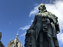 Adam Smith Statue. In Edinburgh Scotland Stock Image