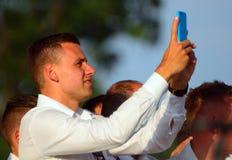 Adam Szalai, ungarische internationale Fußballspieler Lizenzfreie Stockfotos