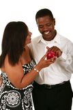 Adam Touch The Apple From Eve stock images