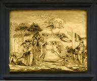 Adam und Eve - Flachrelief, Florenz, Italien Lizenzfreie Stockfotografie