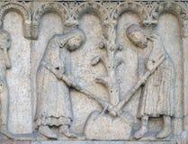 Adam und Eve hacken die Erde Lizenzfreie Stockbilder