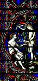 Adam und Eve im Paradies (Buntglas) Lizenzfreie Stockfotografie