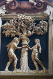Adam und Eve und die verbotene Frucht Lizenzfreie Stockfotos