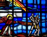 Adam und Eve weggetrieben vom Paradies Lizenzfreies Stockfoto