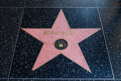 Adam West Hollywood Star Lizenzfreies Stockfoto