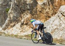 Adam Yates, Einzelzeitfahren - Tour de France 2016 Lizenzfreie Stockfotos