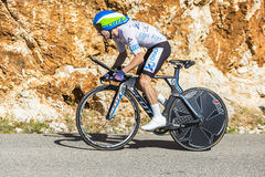 Adam Yates individuellt Tid försök - Tour de France 2016 Arkivfoton