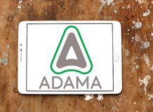 ADAMA Agricultural Solutions logo. Logo of ADAMA Agricultural Solutions on samsung tablet. ADAMA is an Israeli manufacturer and distributor of branded off patent royalty free stock images