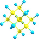 Adamantane molecular model Royalty Free Stock Images