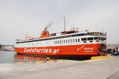 Adamantios Korais ferry, Piraeus Stock Photography