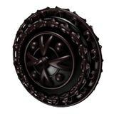Adamantite Round Shield Royalty Free Stock Image