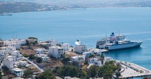 Adamas Harbour, Milos, Greece Royalty Free Stock Photo
