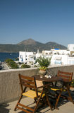 Adamas Milos Greek Island harbor view Stock Photo