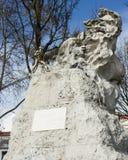 Adamastor,圣卡塔琳娜州观点,里斯本,葡萄牙雕象  免版税库存照片
