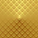 Adamaszek (1) złoto Obraz Stock