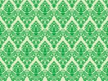 adamaszkowa zielona bezszwowa tekstura Obraz Stock