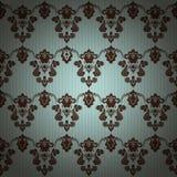 Adamaszkowego rocznika kwiecisty bezszwowy deseniowy tło Zdjęcie Royalty Free