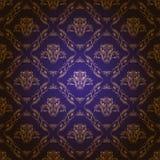 Adamaszkowy bezszwowy kwiecisty wzór Fotografia Royalty Free