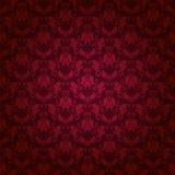Adamaszkowy bezszwowy kwiecisty wzór Obrazy Royalty Free
