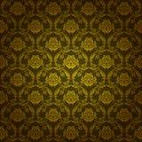 Adamaszkowy bezszwowy kwiecisty wzór Fotografia Stock