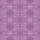Adamaszkowy bezszwowy purpura wzór Zdjęcie Royalty Free