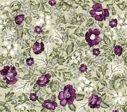adamaszkowy kwiatu wzoru retro bezszwowy Obraz Royalty Free