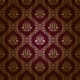 adamaszkowy kwiecisty deseniowy bezszwowy royalty ilustracja