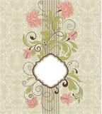 Adamaszkowy tło, zaproszenie karta Fotografia Royalty Free
